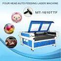 MT-1610TTF Four Head Auto Feeding Textile and Fabric Laser Cutting Machine