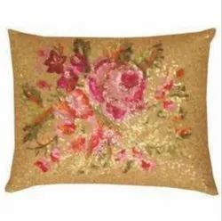 Floral Printed Cushion Cover, Size: 16 X 16 Inch