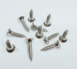 Zinc coated hex head self drilling screws with metal bonded washer