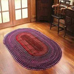 Raman Textiles Multicolor Cotton Chindi Oval Rug