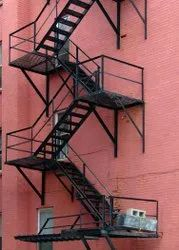 Emergency Exit Of Building Mild Steel Fire-Exit Staircase