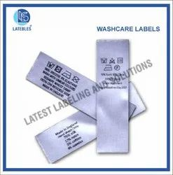 Wash care labels for T-Shirts