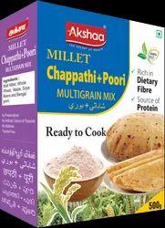 Indian Vegetarian Akshaa Chappathi Poori Multigrain Mix, 500gm, Packaging Type: Box
