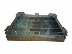 Silver Stainless Steel Modular Kitchen Basket, Grain Trolley