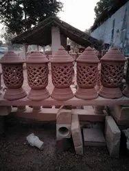 Scraping Glossy Sandstone Chimney Design For Decoration