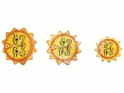 Hand Painted Polished Wooden Handicraft Sun