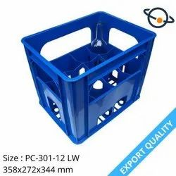 Rectangular Solid Box Supreme Plastic Bottle Crate PC 301, For Industrial, Size: 358x272x344 Mm