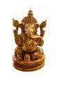 Ganesh Ji 6 Inch Wooden Murti / Handicraft Murti