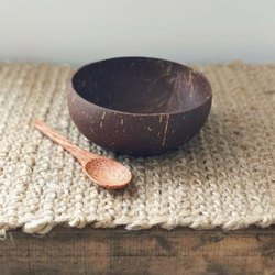 Brown Coconut Shell Soup Bowl, For Restaurants