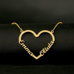 Custom 2 Name Necklace