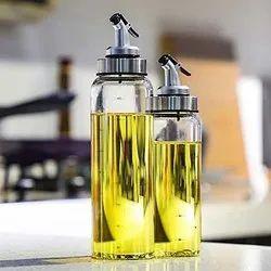 GLASS OIL AND VINEGAR BOTTLE