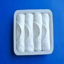 White Cotton Hand Towel, Size: 25 X 25 Cm