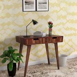 Valka Study Desk With Drawer, Size: Sheesham Wood