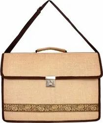 Jute Expandable Laptop, Messenger Bag