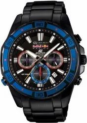 Stainless Steel Band Round Casio Edifice Chronograph Men's Watch, For Formal