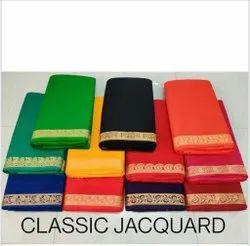 Cotton Fancy Jacquard Fabric, Plain/Solids, Multicolour