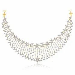 Real Diamond Necklace in 200000/- rupees in 18kt yellow Gold