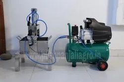 Pneumatic Paneer Press Machine with Air Compressor