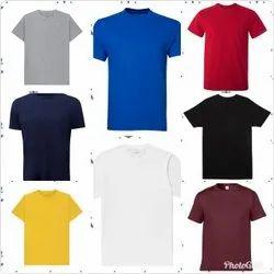 Men Round Neck Plain T Shirt
