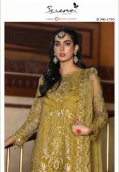 Serene Zarif Faux Georgette Pakistani Salwar Suit Catalog