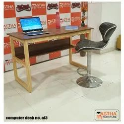 Wooden Computer Table Af-3, Size: 120x60x75