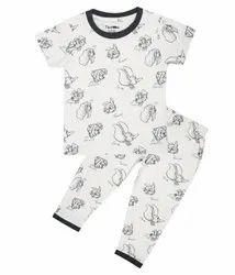 Short Sleeves Off White Knitted Infant Nightwear Set, Size: 1-3 Yrs, 1-3 Yrs