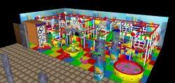 Kids Soft Indoor Play Station Rainbow Theme