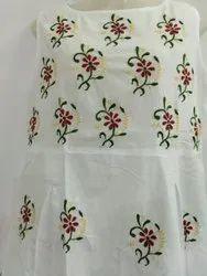 indo western designer Chikankari sleeveless dress.
