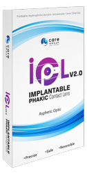 玻璃IPCL v2.0可植入的Phakic隐形眼镜用于远视
