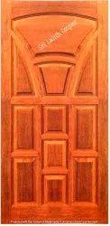 Brown Unfinished Honne Wood Main Doors - Merbau Doors 1, For Home, Thickness: 32mm