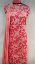 Aara Enterprises Multicolor Organdy Dress Material
