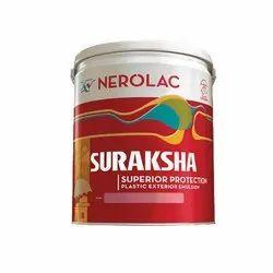 High Gloss Nerolac Suraksha Plastic Exterior Paint, Packaging Size: 15L