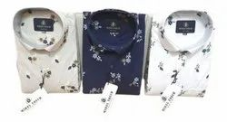 Cotton Mens Party Wear Printed Shirt