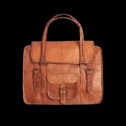 Brown Leather MST Bag