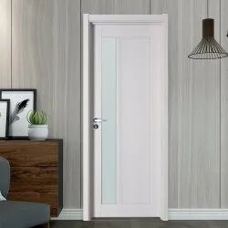 Hinged Polished PVC Toilet Door, Interior
