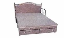Stainless Steel Bedroom Bed, Size: 6 X 6 Feet