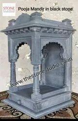 Black Basalt Stone Pooja Mandir