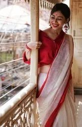 Handloom Weaving Silk Saree With Rich Contrast Wooven Pallu n Rich Wooven Border