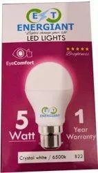 Energiant Round 5W Ceramic LED Bulb