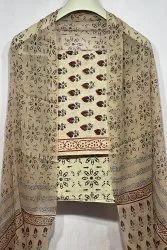 Brown Exclusive Natural Bagru Ajrakh Hand Block Printed Cotton Dress Material
