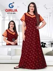 Full Length Cotton Girjia 1 Nighty Printed Western Nightsuits Collection