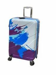 Polycarbonate Printed Trolley Suitcase