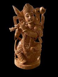 Krishan Ji Wooden Murti  8 Inch