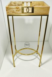 GCO Gold Stainless Steel Side Table