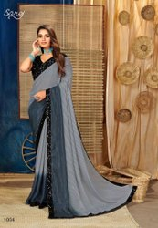 Fancy Saree With Sequence Work