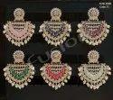 Fusion Arts Meenakari Kundan Pearl Earrings