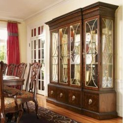 Brown Designer Wooden Glass Show Case, For Home