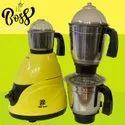Big Boss 750-Watt Mixer Grinder With 3 Stainless Steel Jars,Maxi Grind Technology (Black & Yellow)