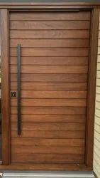 Wooden Safety Door, For Home, Size: 6 X 2 Feet