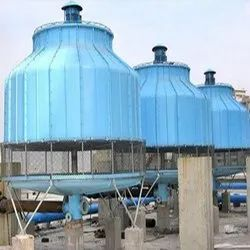 SFT Fiberglass Reinforced Polyester Frp Cooling Towers, Round, Natural Draft